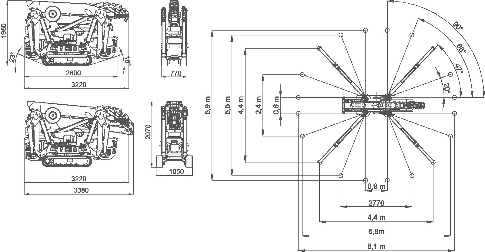 jekko SPX532 dimensions