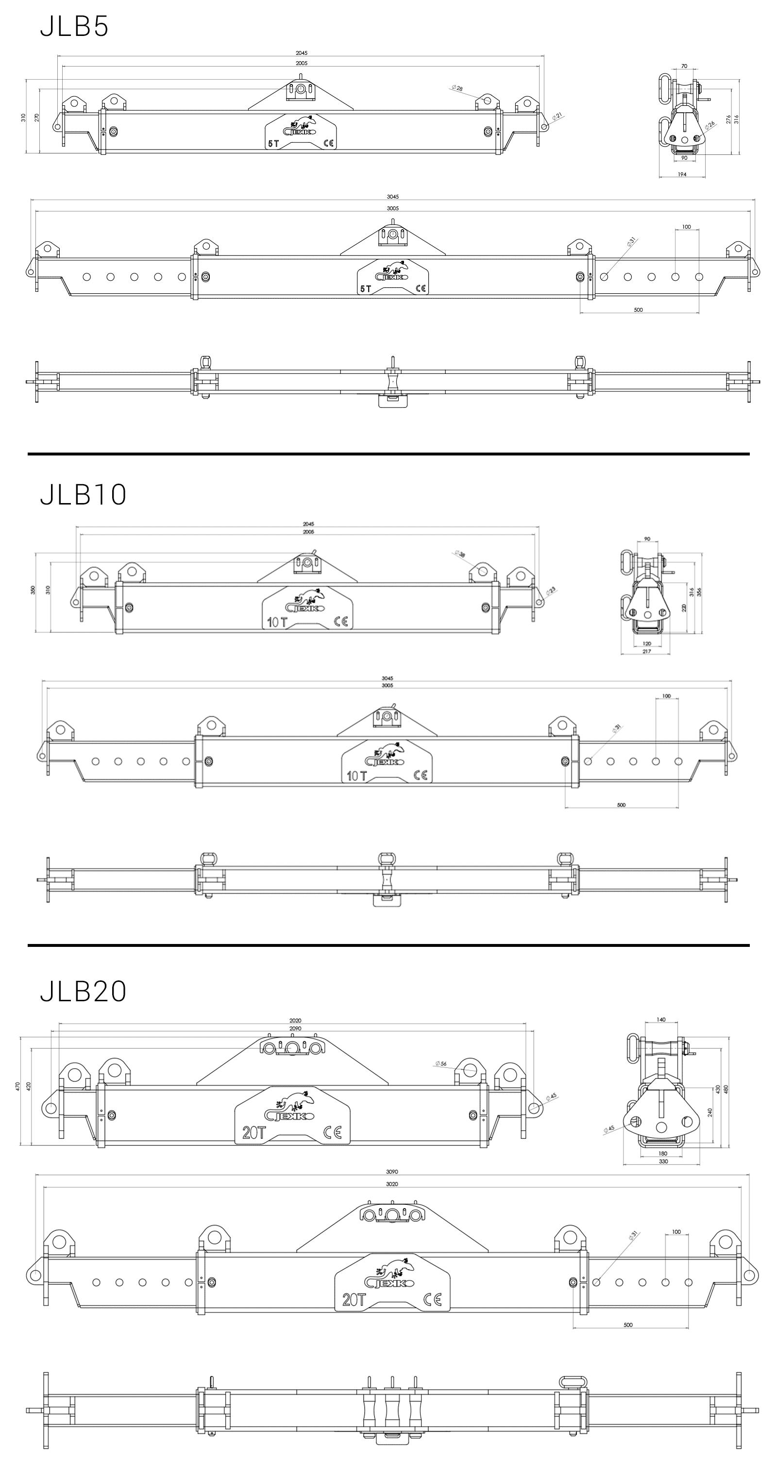 dimensions-lifting-beam